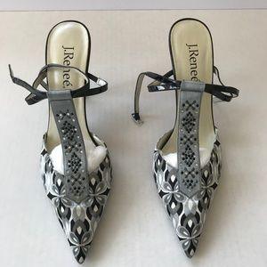 J Renee Multi Color slingback heel Size 10 M